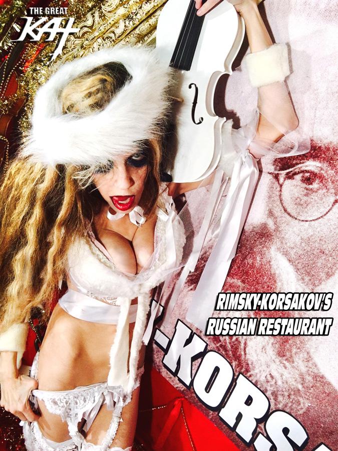 "RIMSKY-KORSAKOV'S RUSSIAN RESTAURANT! From ""CHEF GREAT KAT COOKS RUSSIAN CAVIAR AND BLINI WITH RIMSKY-KORSAKOV"" VIDEO!"