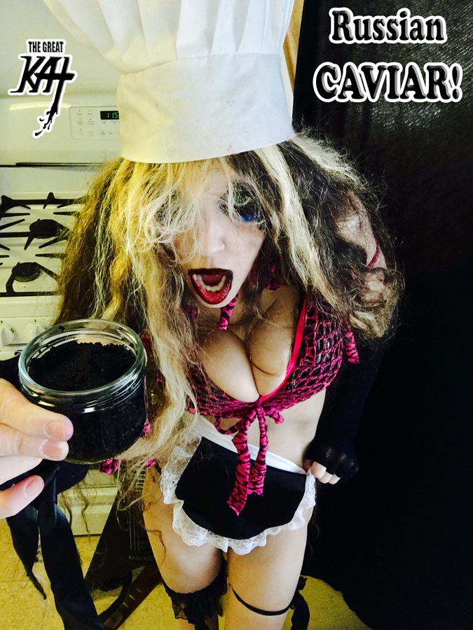 """Russian CAVIAR!! From """"CHEF GREAT KAT COOKS RUSSIAN CAVIAR AND BLINI WITH RIMSKY-KORSAKOV"""" VIDEO!"""