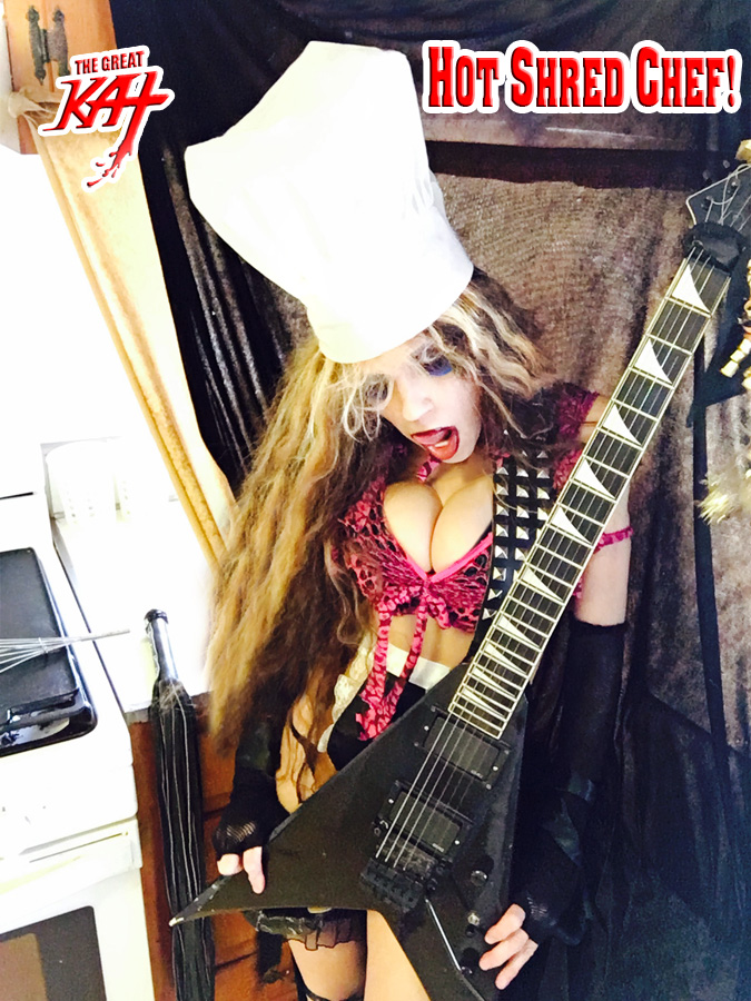 """HOT SHRED CHEF! From """"CHEF GREAT KAT COOKS RUSSIAN CAVIAR AND BLINI WITH RIMSKY-KORSAKOV"""" VIDEO!"""