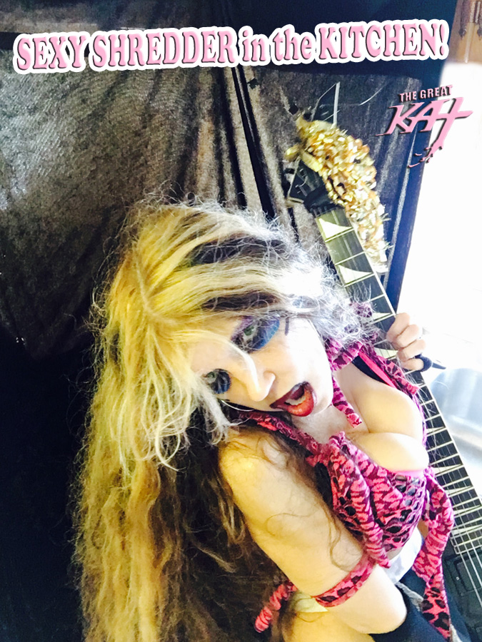 """SEXY SHREDDER in the KITCHEN! From """"CHEF GREAT KAT COOKS RUSSIAN CAVIAR AND BLINI WITH RIMSKY-KORSAKOV"""" VIDEO!"""