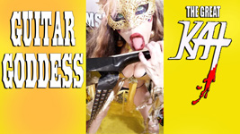 "GUITAR GODDESS! From ""CHEF GREAT KAT COOKS RUSSIAN CAVIAR AND BLINI WITH RIMSKY-KORSAKOV"" VIDEO!!"
