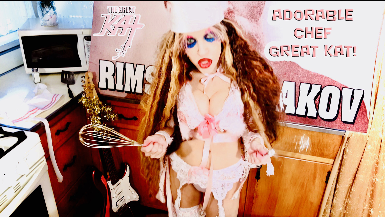 """ADORABLE CHEF GREAT KAT!! From """"CHEF GREAT KAT COOKS RUSSIAN CAVIAR AND BLINI WITH RIMSKY-KORSAKOV"""" VIDEO!!"""