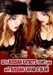 "SEXY RUSSIAN KATBOTS TEMPT you with RUSSIAN CAVIAR & BLINI! From ""CHEF GREAT KAT COOKS RUSSIAN CAVIAR AND BLINI WITH RIMSKY-KORSAKOV"" VIDEO!!"