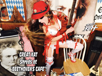 "GREAT KAT Shreds at ""BEETHOVEN'S CAFE""!"