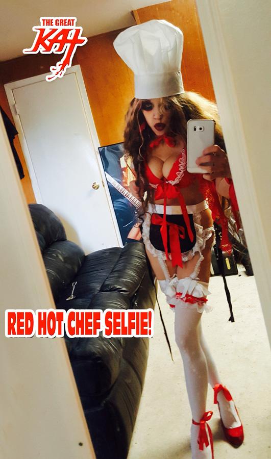 RED HOT CHEF SELFIE!!
