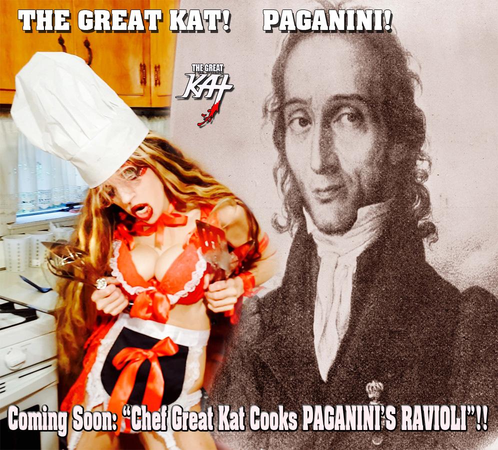 """Coming Soon: """"Chef Great Kat Cooks PAGANINI'S RAVIOLI""""!!"""