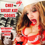 "AMAZON MUSIC PREMIERES DIGITAL AUDIO of THE GREAT KAT'S NEW ""CHEF GREAT KAT COOKS BEETHOVEN'S MACARONI AND CHEESE""!  DOWNLOAD MP3 at https://www.amazon.com/dp/B075GVYCD7 You'll want seconds after listening to the hilarious new ""Chef Great Kat Cooks Beethoven's Mac & Cheese""! Chef Great Kat cooks Beethoven's favorite Mac & Cheese recipe with throwing bowls, talking to Beethoven and a side of shredding the 5th on guitar! Foodies get ready for culinary craziness! https://www.amazon.com/dp/B075GVYCD7"