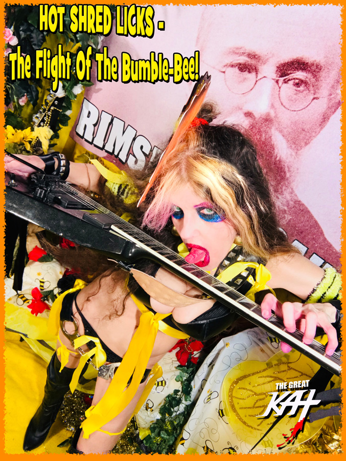"""HOT SHRED LICKS - The Flight Of The Bumble-Bee! From """"CHEF GREAT KAT COOKS RUSSIAN CAVIAR AND BLINI WITH RIMSKY-KORSAKOV"""" VIDEO!"""