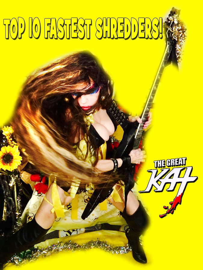 """TOP 10 FASTEST SHREDDERS! From """"CHEF GREAT KAT COOKS RUSSIAN CAVIAR AND BLINI WITH RIMSKY-KORSAKOV"""" VIDEO!"""
