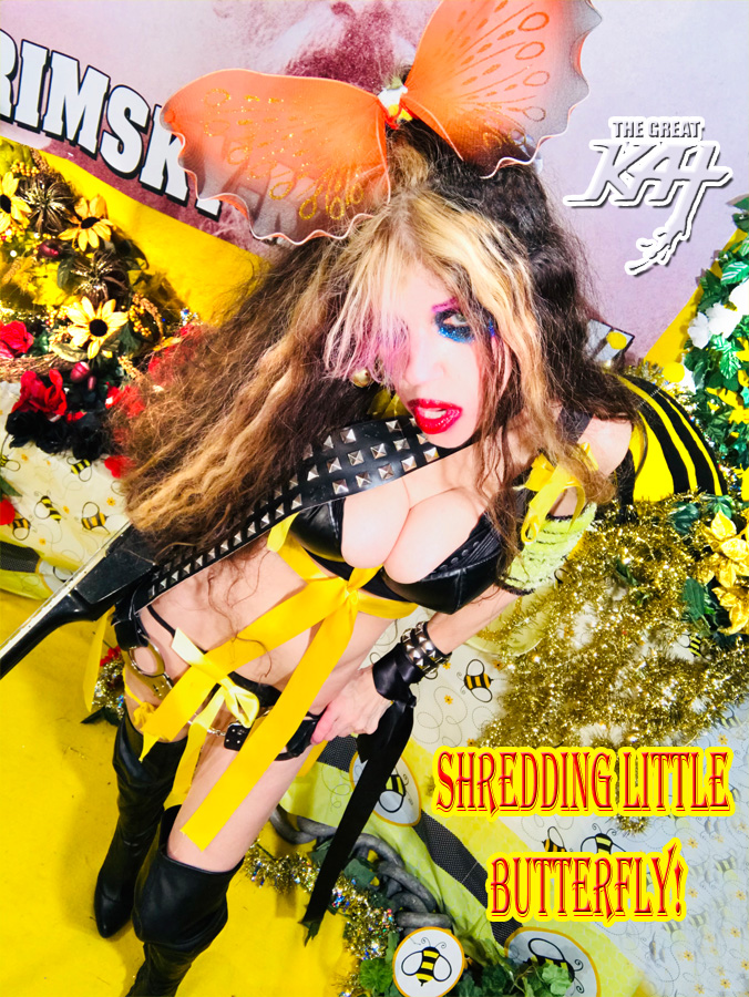 """SHREDDING LITTLE BUTTERFLY! From """"CHEF GREAT KAT COOKS RUSSIAN CAVIAR AND BLINI WITH RIMSKY-KORSAKOV"""" VIDEO!"""