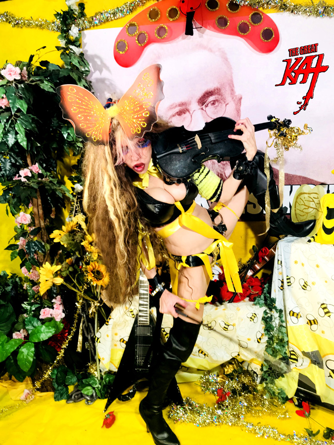 "THE FLIGHT OF THE BUMBLE-BEE VIOLIN GODDESS The Great Kat!! From ""CHEF GREAT KAT COOKS RUSSIAN CAVIAR AND BLINI WITH RIMSKY-KORSAKOV"" VIDEO!"