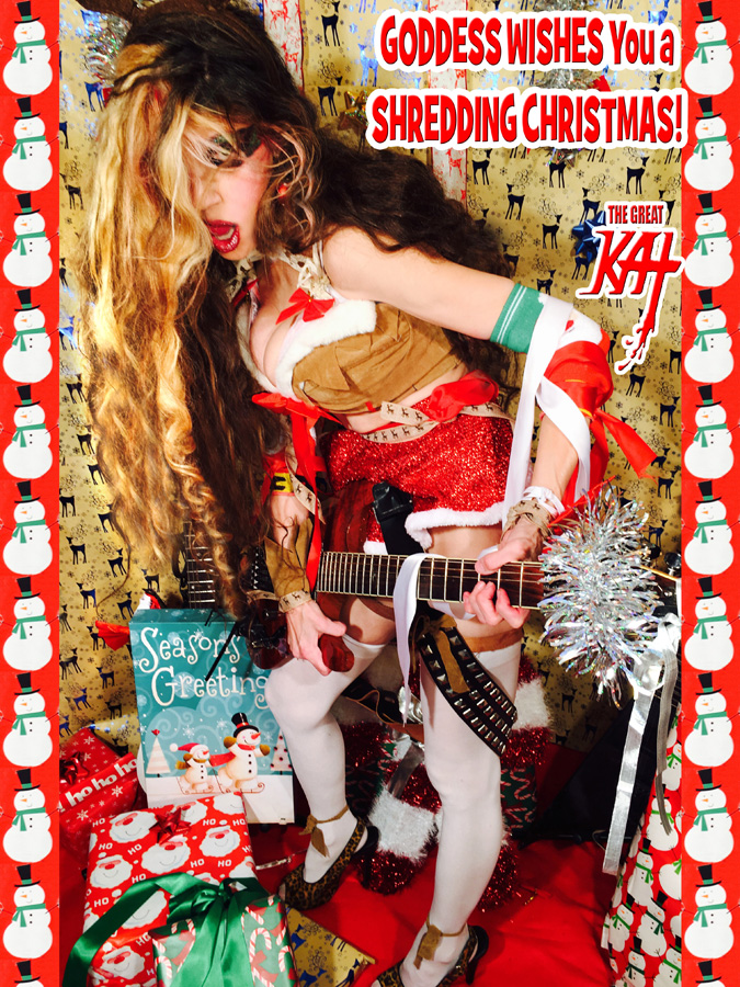 GODDESS WISHES You a SHREDDING CHRISTMAS!