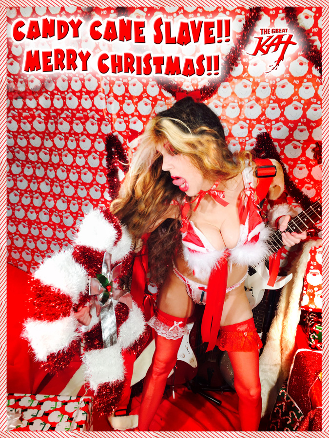 CANDY CANE SLAVE! MERRY CHRISTMAS!
