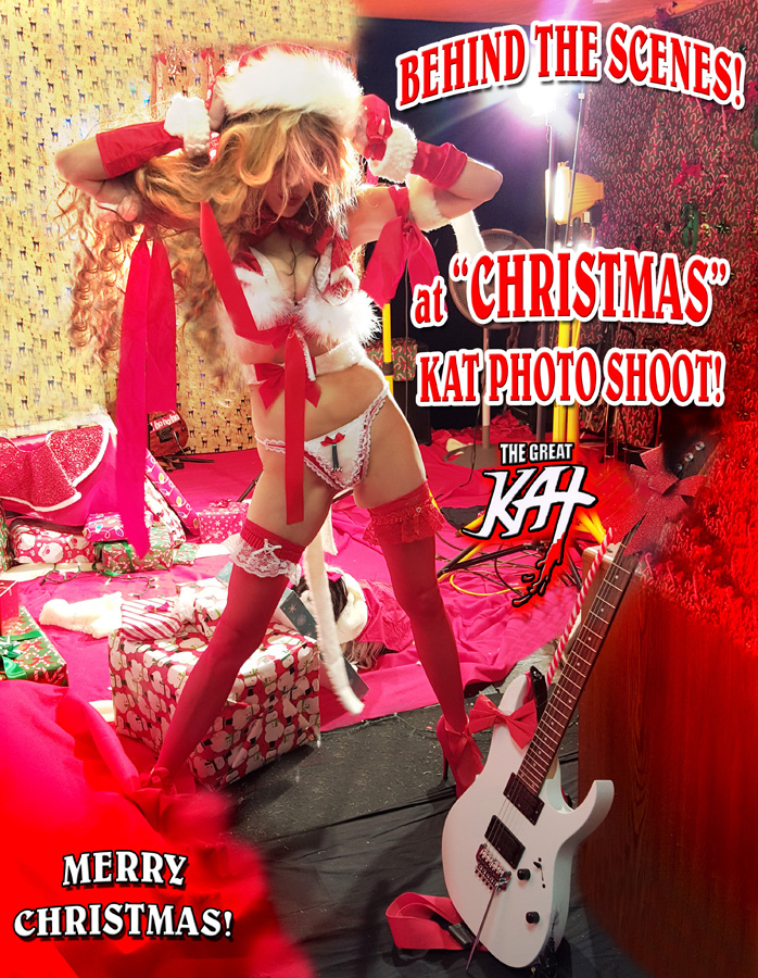 "BEHIND THE SCENES! at ""CHRISTMAS"" KAT PHOTO SHOOT! MERRY CHRISTMAS!"