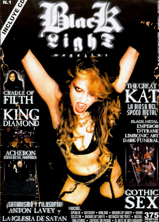 "The Great Kat on the Cover of ""BLACK LIGHT"" MAGAZINE"""