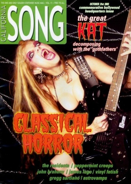 "THE GREAT KAT on the Cover of ""CALIFORNIA SONG"" MAGAZINE!"