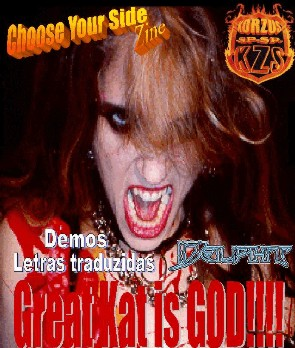 """The Great Kat on the Cover of """"CHOOSE YOUR SIDE"""" ZINE!"""