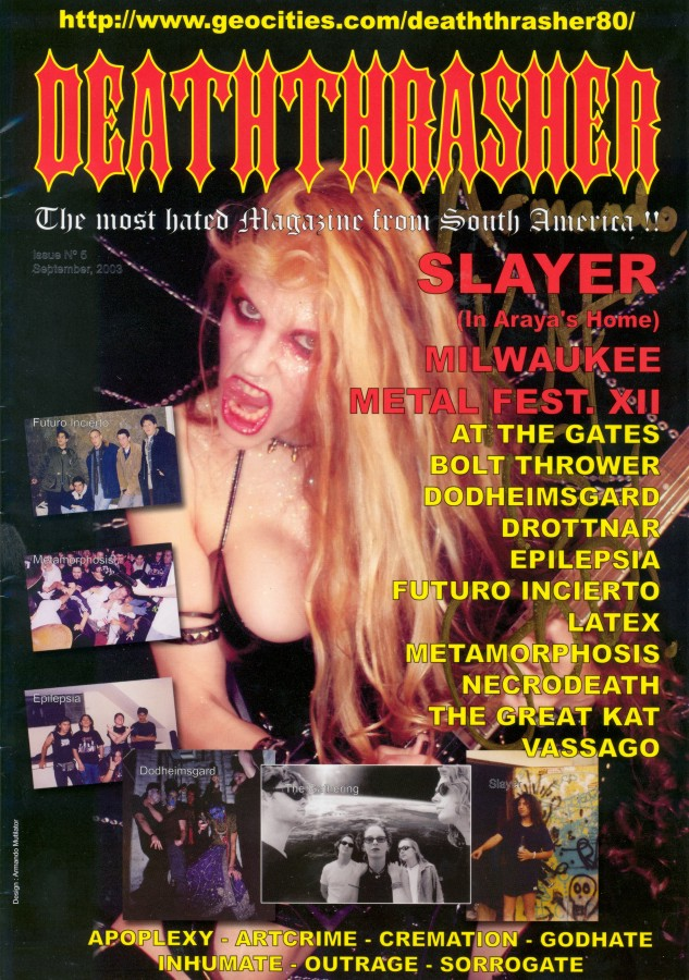 The Great Kat on the Cover of &quot;DEATHTHRASHER&quot; Magazine
