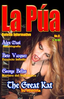 "The Great Kat on the Cover of ""LA PUA"" Magazine"