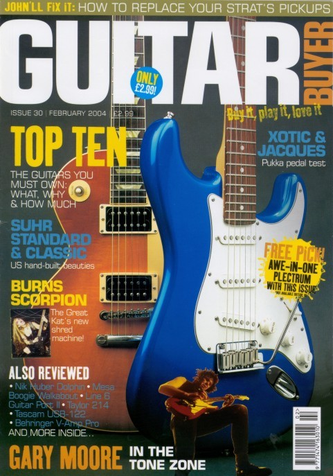 """The Great Kat on the Cover of """"GUITAR BUYER"""" MAGAZINE!"""
