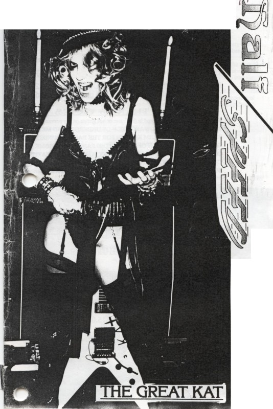 """The Great Kat on the Cover of """"HALF SPEED"""" Magazine"""