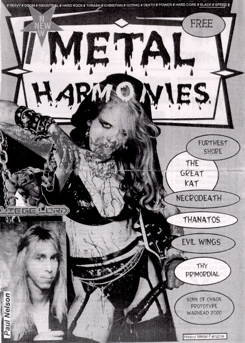 "The Great Kat on the Cover of ""METAL HARMONIES"" MAGAZINE!"