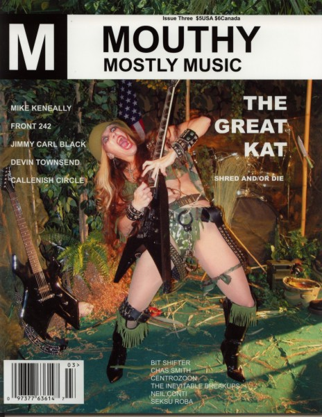 """The Great Kat on the Cover of """"MOUTHY MOSTLY MUSIC"""" MAGAZINE"""""""