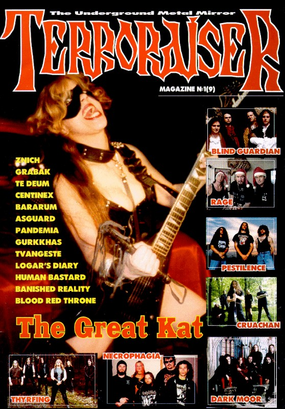 "The Great Kat on the Cover of ""TERRORAISER"" MAGAZINE!"