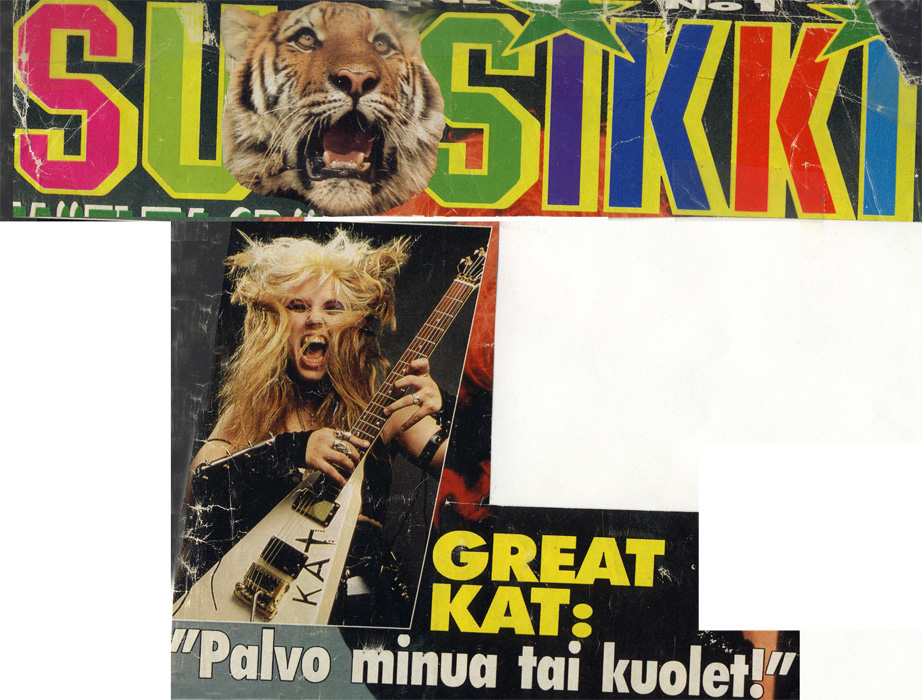 "The Great Kat Magazine Covers! SUOSIKKI MAGAZINE'S FAMOUS COVER STORY ON THE GREAT KAT ""GREAT KAT: Worship Me Or Die!"""