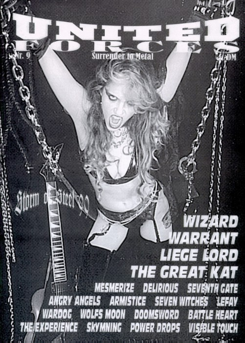 """The Great Kat on the Cover of """"UNITED FORCES"""" MAGAZINE!"""