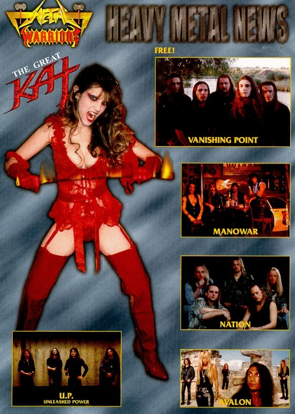 "The Great Kat on the Cover of ""METAL WARRIORS"""