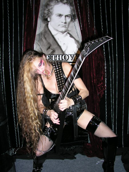 """LA RELIGION DEL ROCK PESADO'S EXCLUSIVE INTERVIEW WITH THE GREAT KAT! """"The Great Kat: The world's fastest guitarist, a cross between the attitude of Wendy O. Williams, the power of Kerry King and the precision of Beethoven. Incomparable virtuosity and sensuality. The one true queen of metal and classical music ... Hail Kat!!!!"""" Zamir Resk Facco, La Religion del Rock Pesado"""