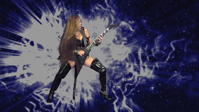 "NEW on ITUNES MUSIC VIDEOS! The Great Kat SHREDS J.S. BACH'S FINAL Masterpiece BACH'S ""THE ART OF THE FUGUE"" - Music Video from ""Beethoven's Guitar Shred"" DVD! Bach's own son, C.P.E. Bach, wrote on the score for ""The Art of Fugue"": ""While working on this fugue, where the name B.A.C.H. appears in the countersubject, the composer died."" (B,A,C,H -- ""H"" is B natural in German)."