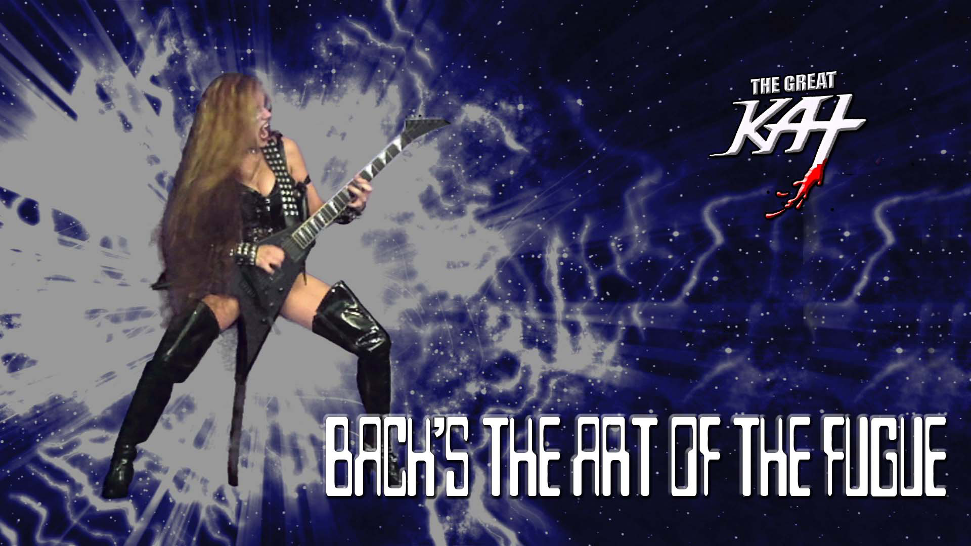 """AMAZON PREMIERES The Great Kat's BACH'S """"THE ART OF THE FUGUE"""" MUSIC VIDEO! WATCH at https://www.amazon.com/dp/B0756Q5WKV/ The Great Kat """"Top 10 Fastest Shredders Of All Time""""/Juilliard Grad Violin Goddess Shreds Bach's The Art Of The Fugue starring The Great Kat's Heavy Metal Guitars & Baroque Harpsichords. J.S. Bach wrote The Art Of The Fugue in his last years while slowly going blind! Bach: Music For The Universe!"""