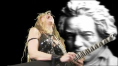 "NEW ON AMAZON INSTANT VIDEO THE GREAT KAT�S NEO-CLASSICAL MASTERPIECE �BEETHOVEN�S GUITAR SHRED�! Amazon Instant Video Synopsis: ""Included are 7 outrageous shred/classical guitar music videos, including: Beethoven's '5th Symphony' - 'The Flight of the Bumble-Bee' at the finger-bleeding speed of 300 BPM!; Bach's 'Brandenburg Concerto #3'- The Great Kat shreds on 6 guitars; Paganini's 'Caprice #24' 'Torture Techniques' - Arsenal of Kat Torture devices and abused victims!"""
