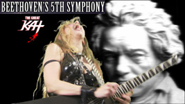 "MVD ENTERTAINMENT GROUP NOW PRESENTS FULL VIDEO of THE GREAT KAT SHREDCLASSICAL VIRTUOSO Shredding BEETHOVEN'S ""5th SYMPHONY"" -- On GUITAR AND VIOLIN!"