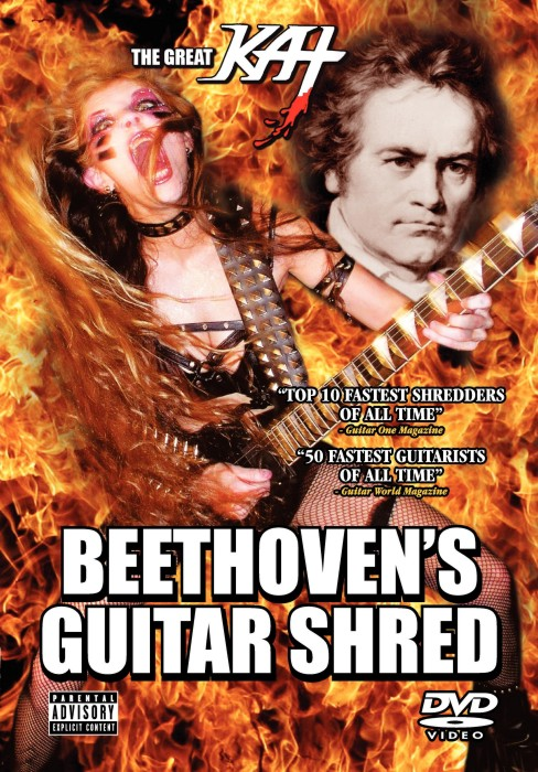 "NEW ON YOUTUBE: THE GREAT KAT'S BLISTERING ""BEETHOVEN'S GUITAR SHRED""! WATCH CLIP OR RENT FULL MOVIE at http://youtu.be/m5GUnR0KtVc"