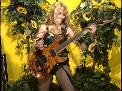 """GUITAR TRICKS NAMES THE GREAT KAT """"SIX OF MUSIC'S MOST INFLUENTIAL WOMEN GUITARISTS""""! """"Guitar virtuoso The Great Kat is 'girl power' at its raunchiest. Thrash metal guitarist who's been dubbed one of the fastest on the planet. Kat's finger-bleeding speed has to be heard to be believed. She's mind-boggingly fast. Here's a short clip of Kat playing guitar and violin on 'The Flight of the Bumblebee'. Her first live performance left the entire audience with mouths agape, shocked that a woman could play faster than practically any guy in the world."""" - Guitar Tricks"""