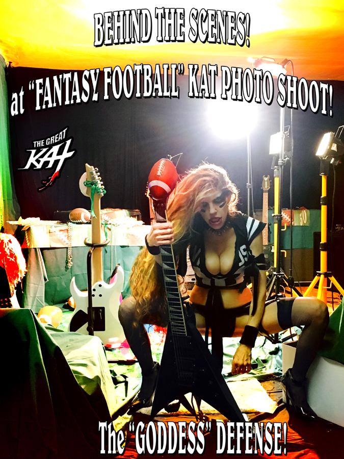 """BEHIND THE SCENES! at """"FANTASY FOOTBALL"""" KAT PHOTO SHOOT! The """"GODDESS"""" DEFENSE!"""