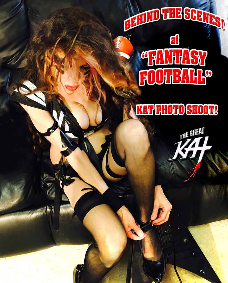 "BEHIND THE SCENES! at ""FANTASY FOOTBALL"" KAT PHOTO SHOOT!"