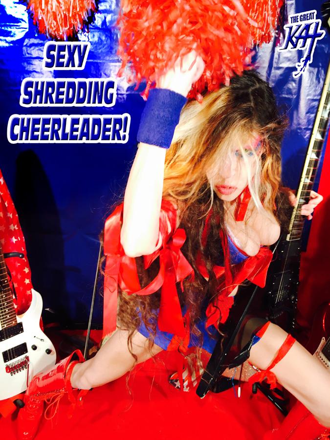 SEXY SHREDDING CHEERLEADER!