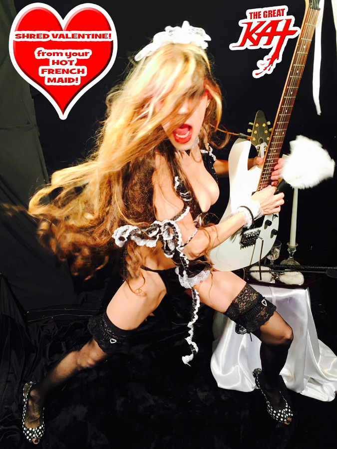 SHRED VALENTINE! from your HOT FRENCH MAID!