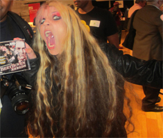 METAL GODDESS THE GREAT KAT SHREDS CE WEEK in NEW YORK CITY!!! ON YOUR KNEES, SLAVES!!!