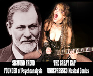 SIGMUND FREUD FOUNDER of Psychoanalysis - THE GREAT KAT UNREPRESSED Musical Genius