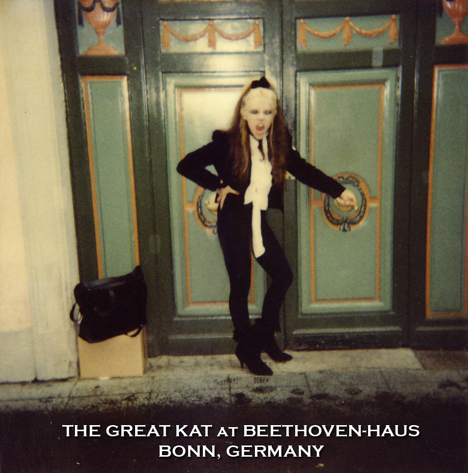 THE REINCARNATION OF BEETHOVEN, THE GREAT KAT, at BEETHOVEN-HAUS in BONN, GERMANY! The Great Kat Returns Home!