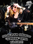 "THE GREAT KAT SHREDS her ""SCORPION"" GUITAR with FLUFFY!"