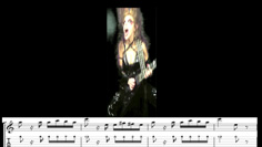 """THE GREAT KAT GUITAR SHREDDING/TABLATURE/MUSIC NOTATION PHOTOS from PAGANINI'S """"CAPRICE #24""""!"""