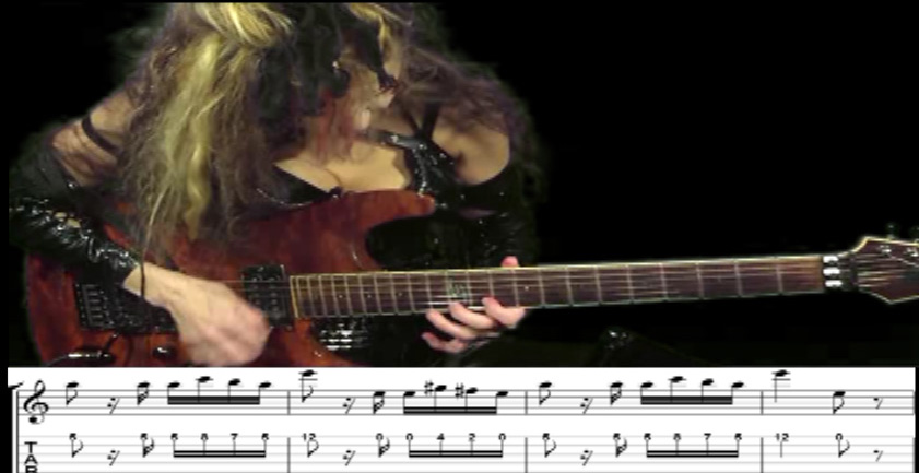 "THE GREAT KAT GUITAR SHREDDING/TABLATURE/MUSIC NOTATION PHOTOS from PAGANINI'S ""CAPRICE #24""!"