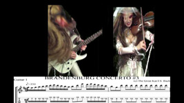 "BACH'S ""BRANDENBURG CONCERTO #3""-GREAT KAT SHREDS GUITAR & VIOLIN with GUITAR TAB & NOTATION!"