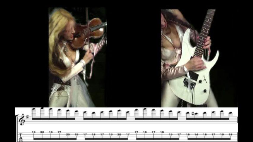 "THE GREAT KAT GUITAR SHREDDING/TABLATURE/MUSIC NOTATION PHOTOS from BACH'S ""BRANDENBURG CONCERTO #3"""